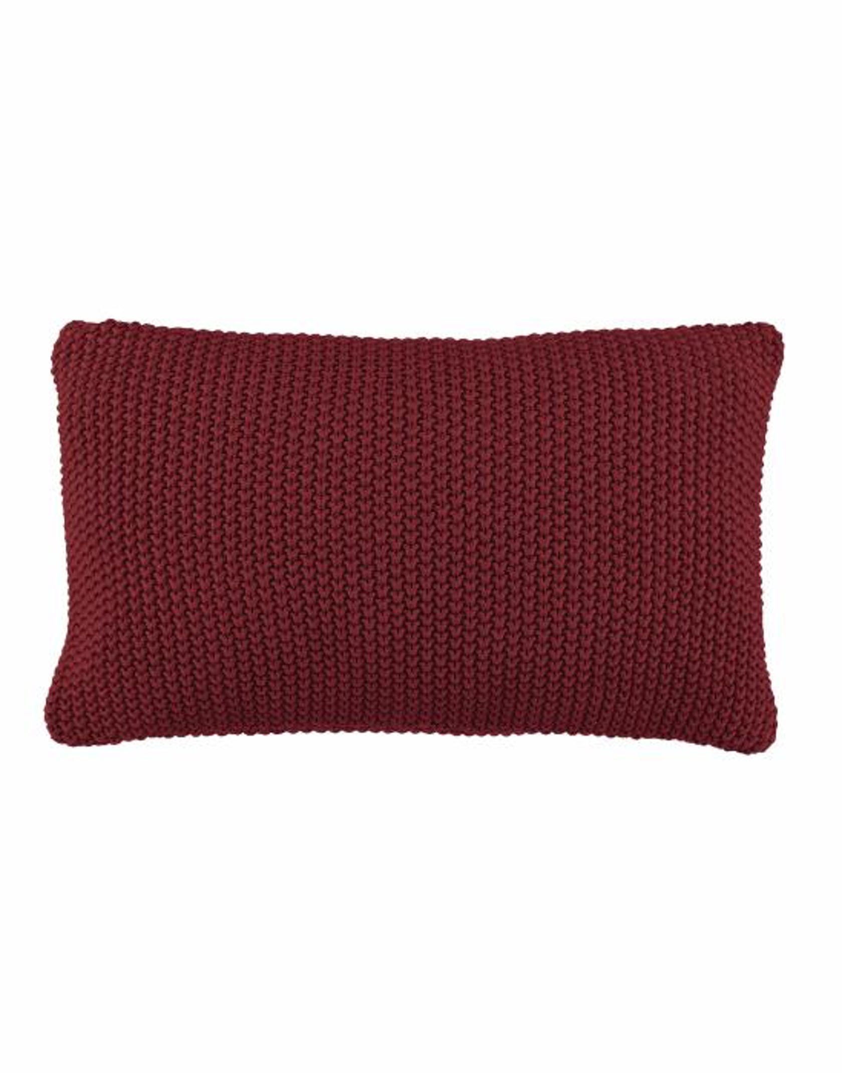 Marc O'Polo Nordic knit Cushion Red