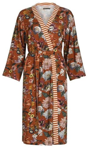 ESSENZA Sarai Filou Kimono Bloemen Leather brown