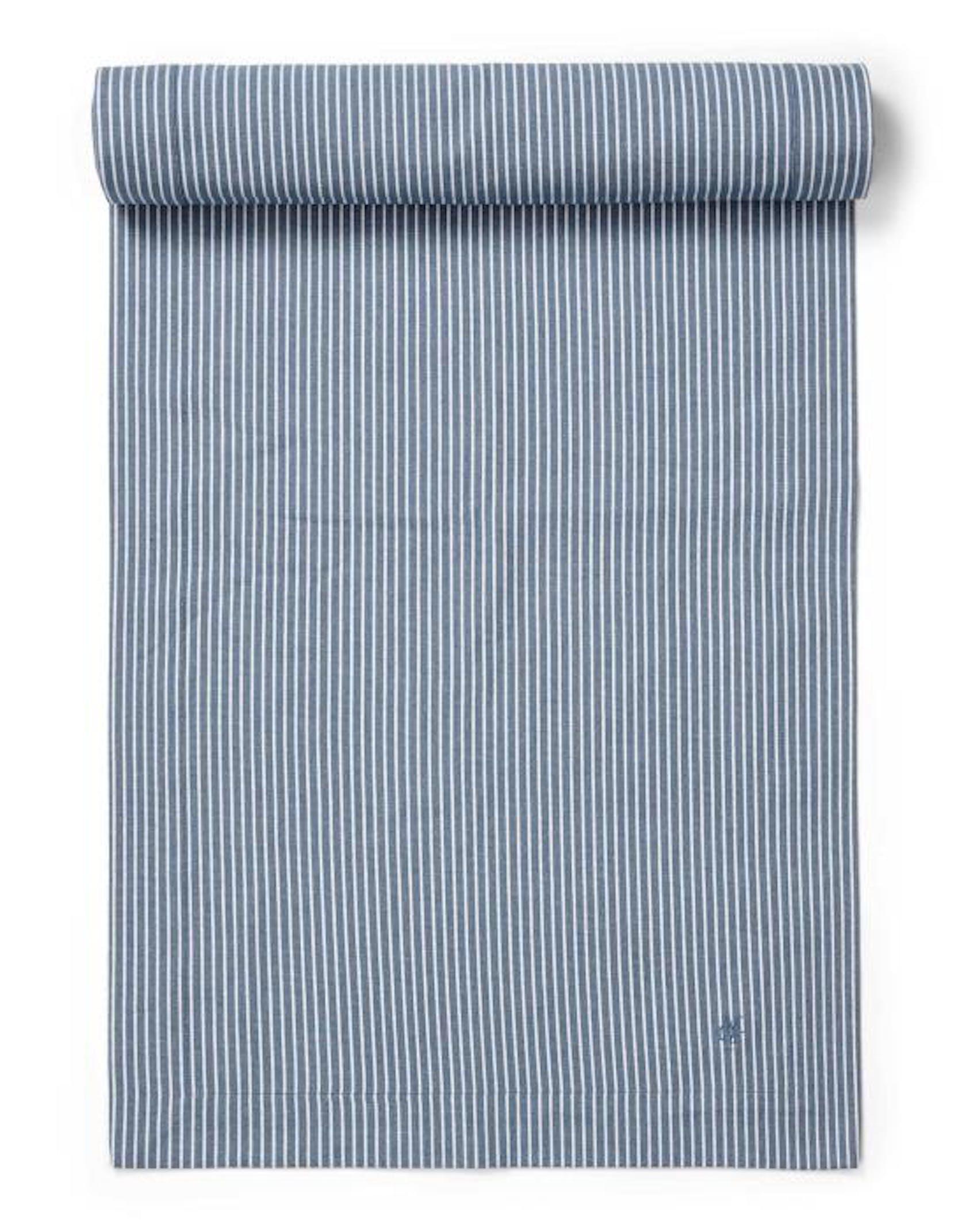 Marc O'Polo Tentstra Tischläufer Streifen Smoke Blue