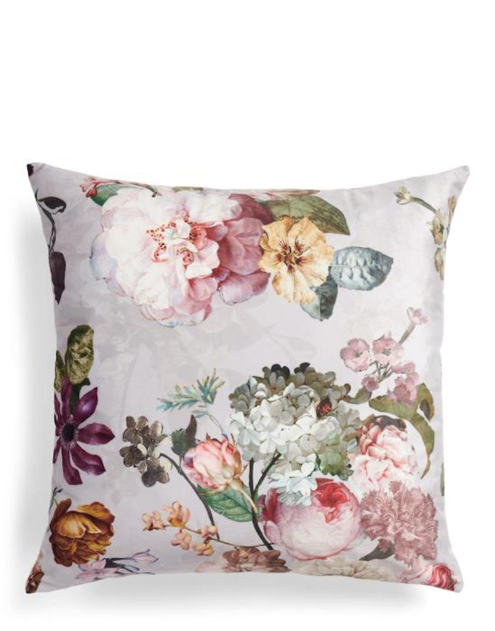 ESSENZA Fleur Cushion square Grey