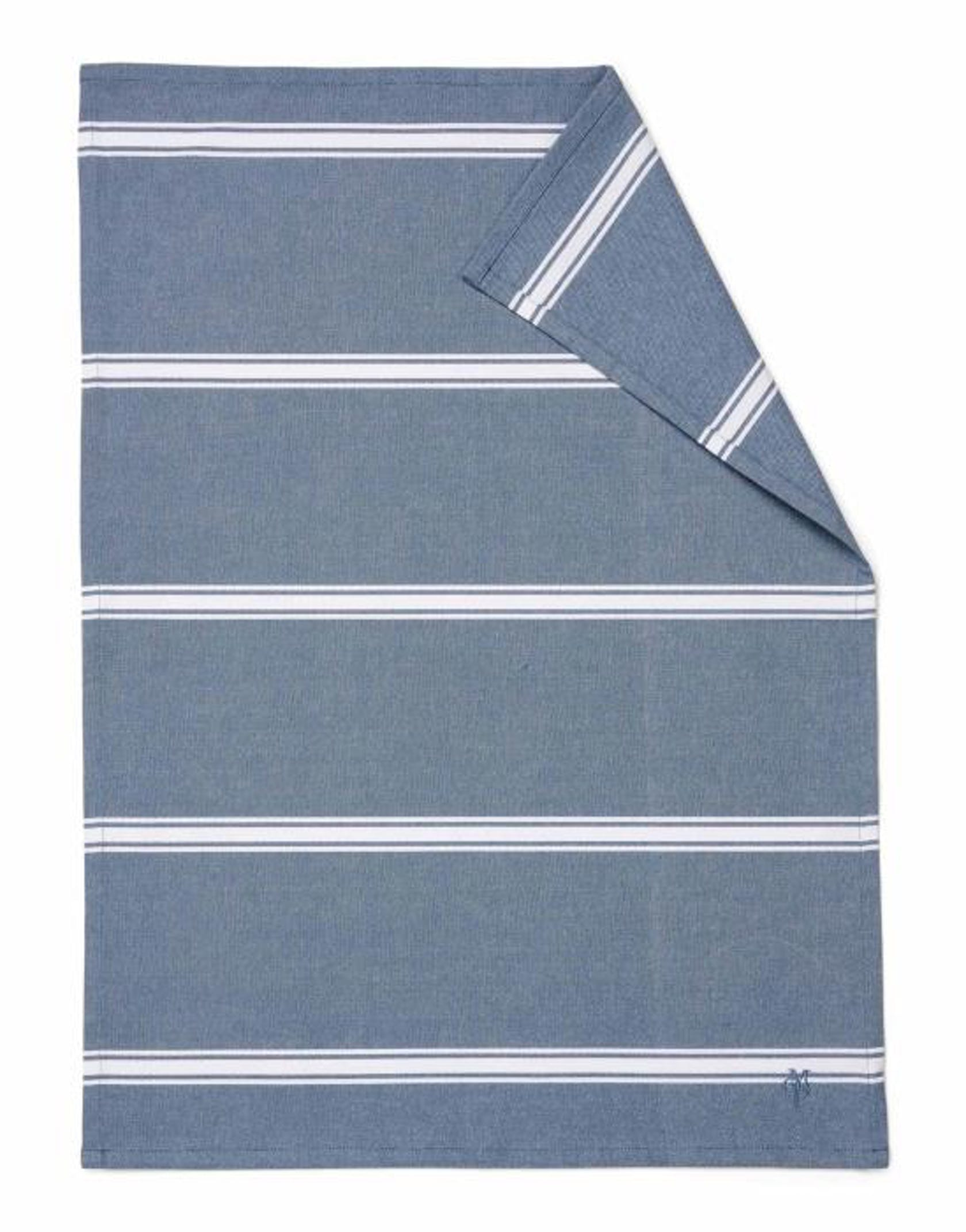 Marc O'Polo Lovon Geschirrtuch Streifen Smoke Blue