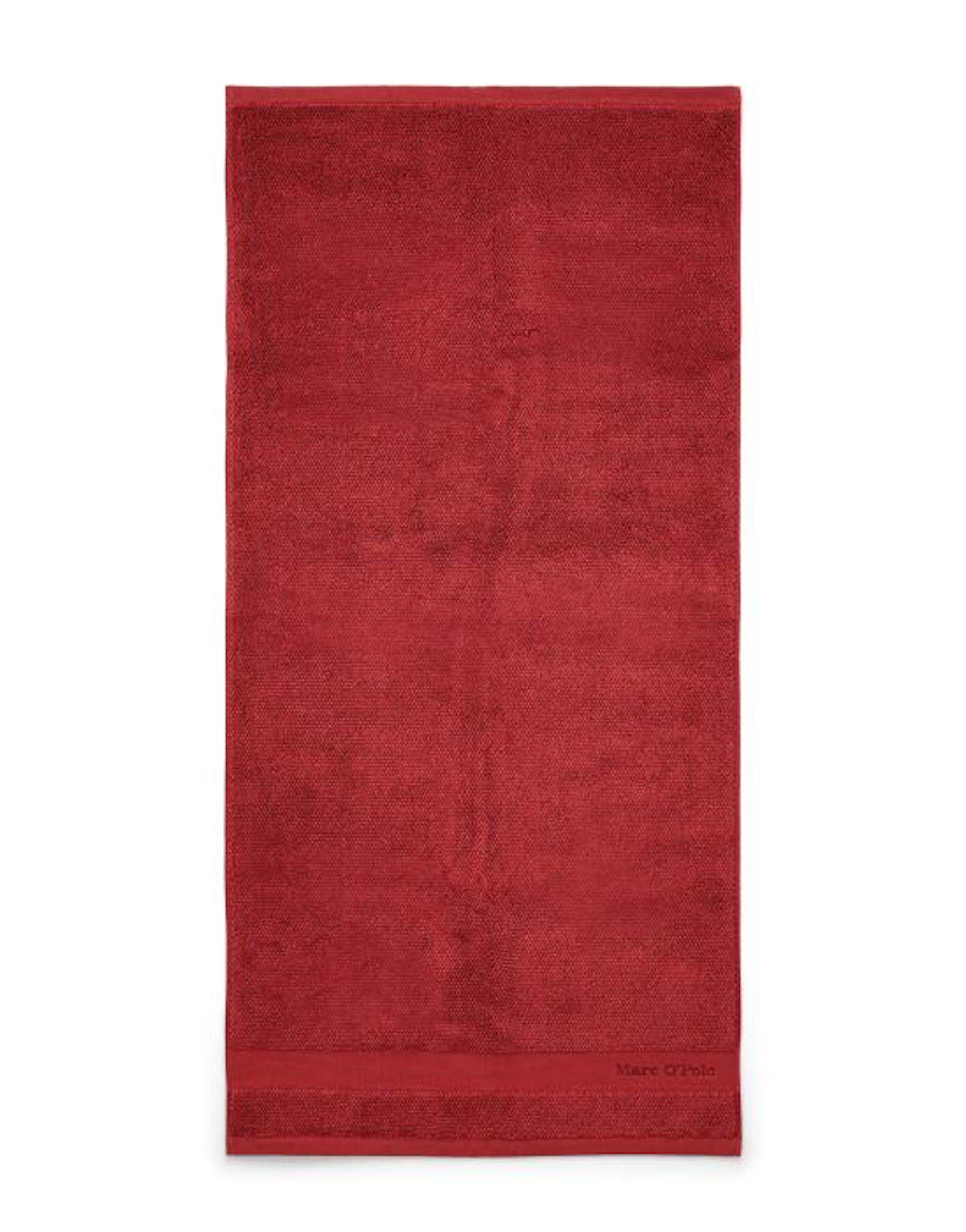 Marc O'Polo Melange Handtuch Meliert Deep Rose / Warm Red