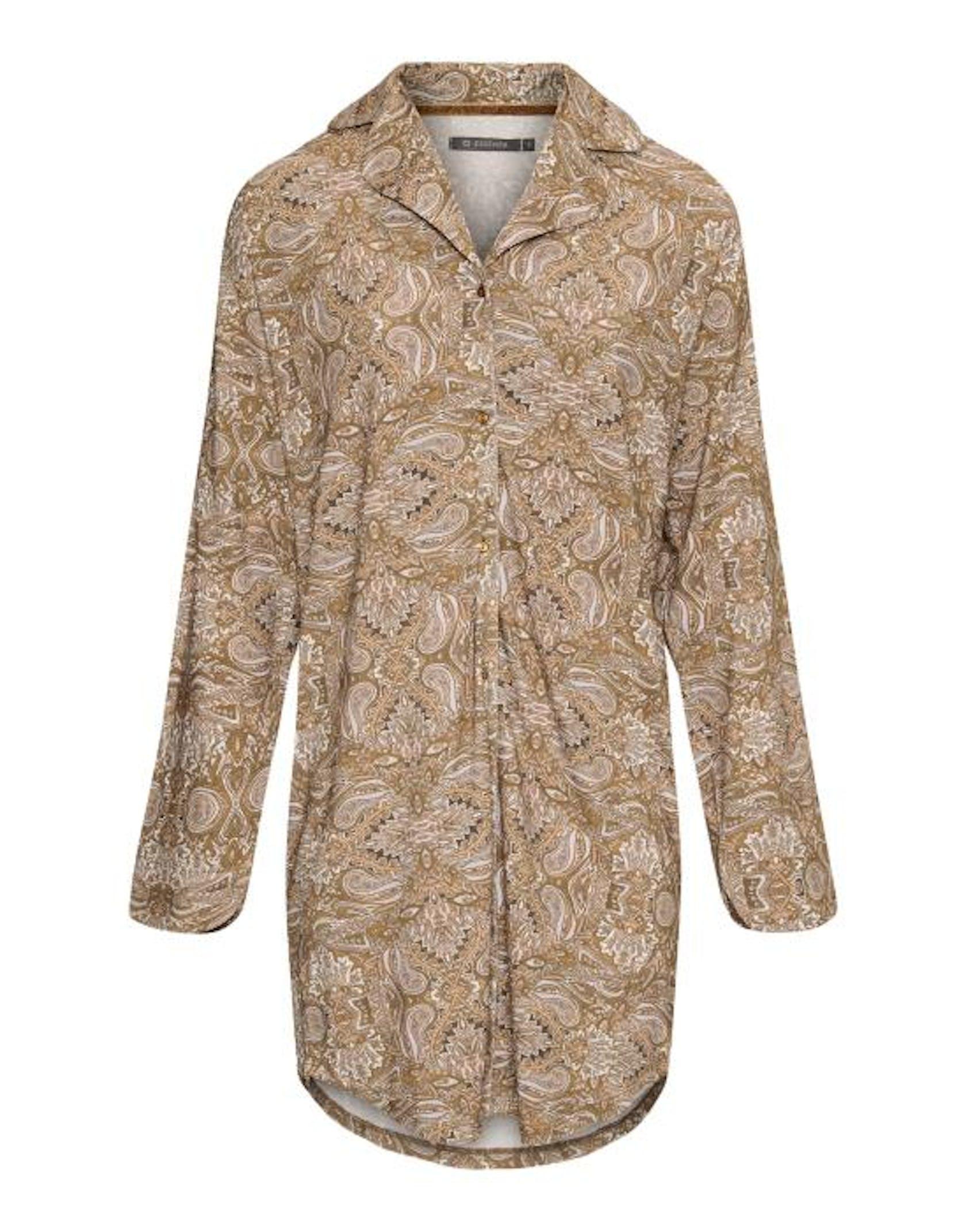 ESSENZA Lindy Boheme  Nightdress long sleeve Cinnamon
