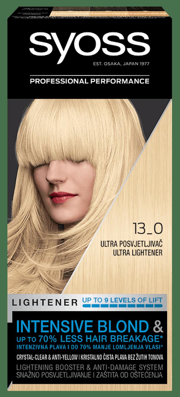 Trajna barva za lase Syoss – Ultra posvetljevalec 13-0 shot pack