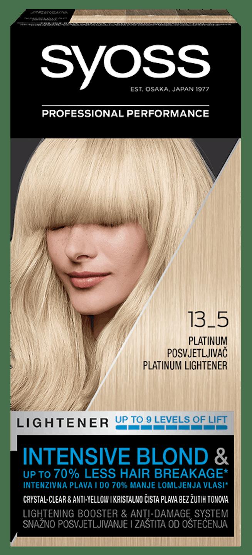Trajna barva za lase Syoss – Platinasti posvetljevalec 13-5 shot pack