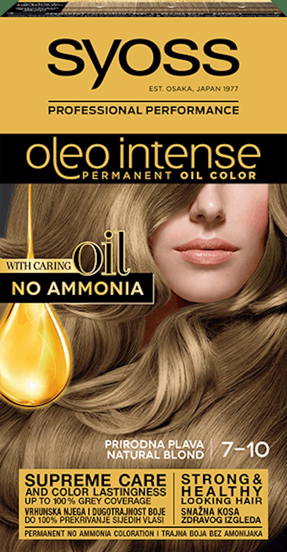Trajna barva za lase Syoss Oleo Intense Naravno blond 7-10 shot pack