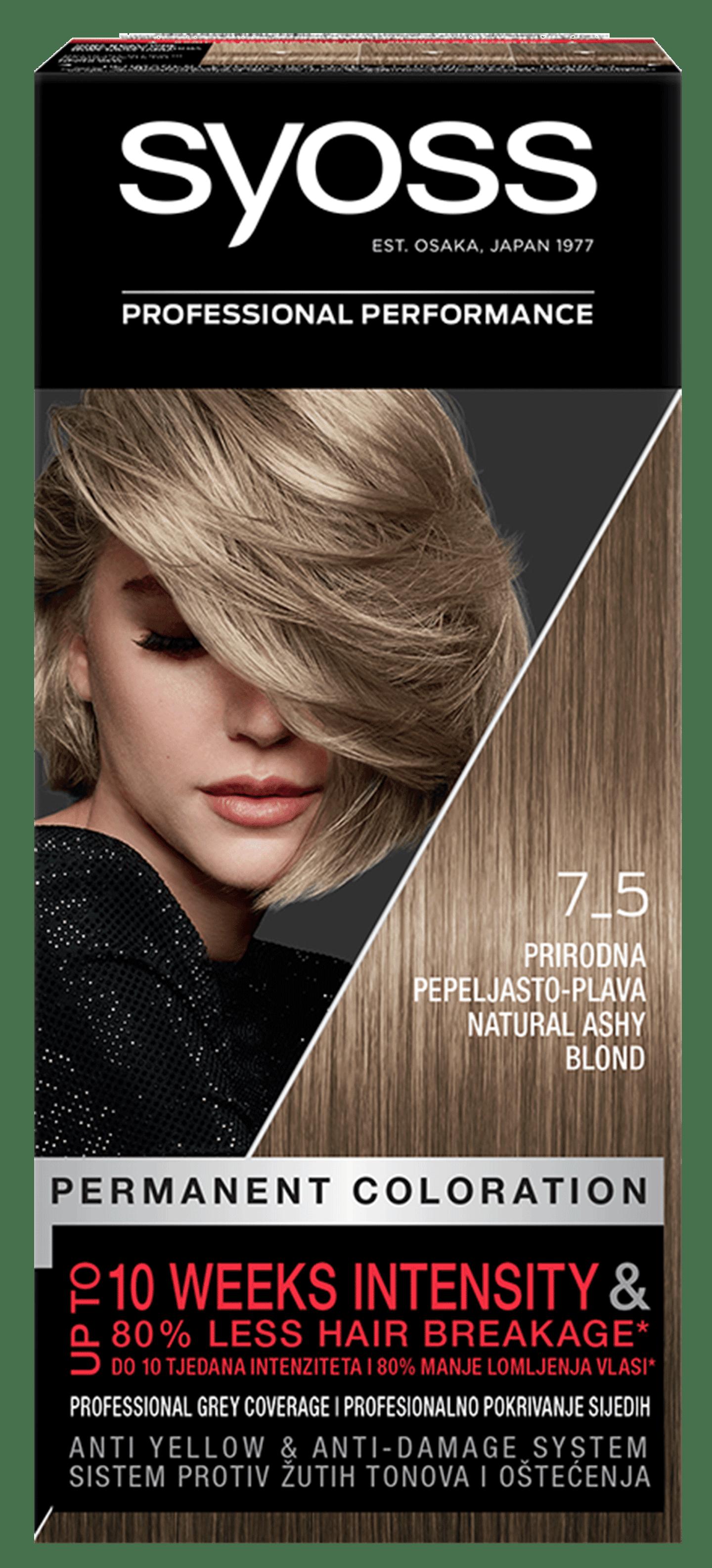 Trajna barva za lase Syoss Naravna pepelnato blond 7-5