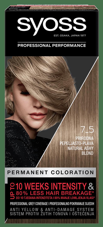 Trajna barva za lase Syoss Naravno pepelnato blond 7-5