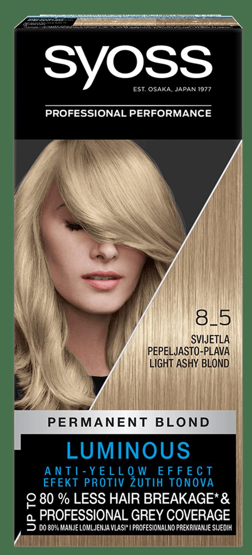 Trajna barva za lase Syoss Svetlo pepelnato blond 8-5