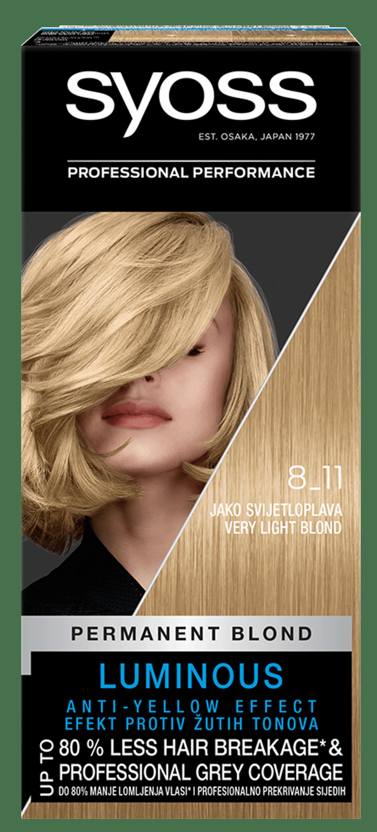 Trajna barva za lase Syoss Zelo svetlo blond 8-11