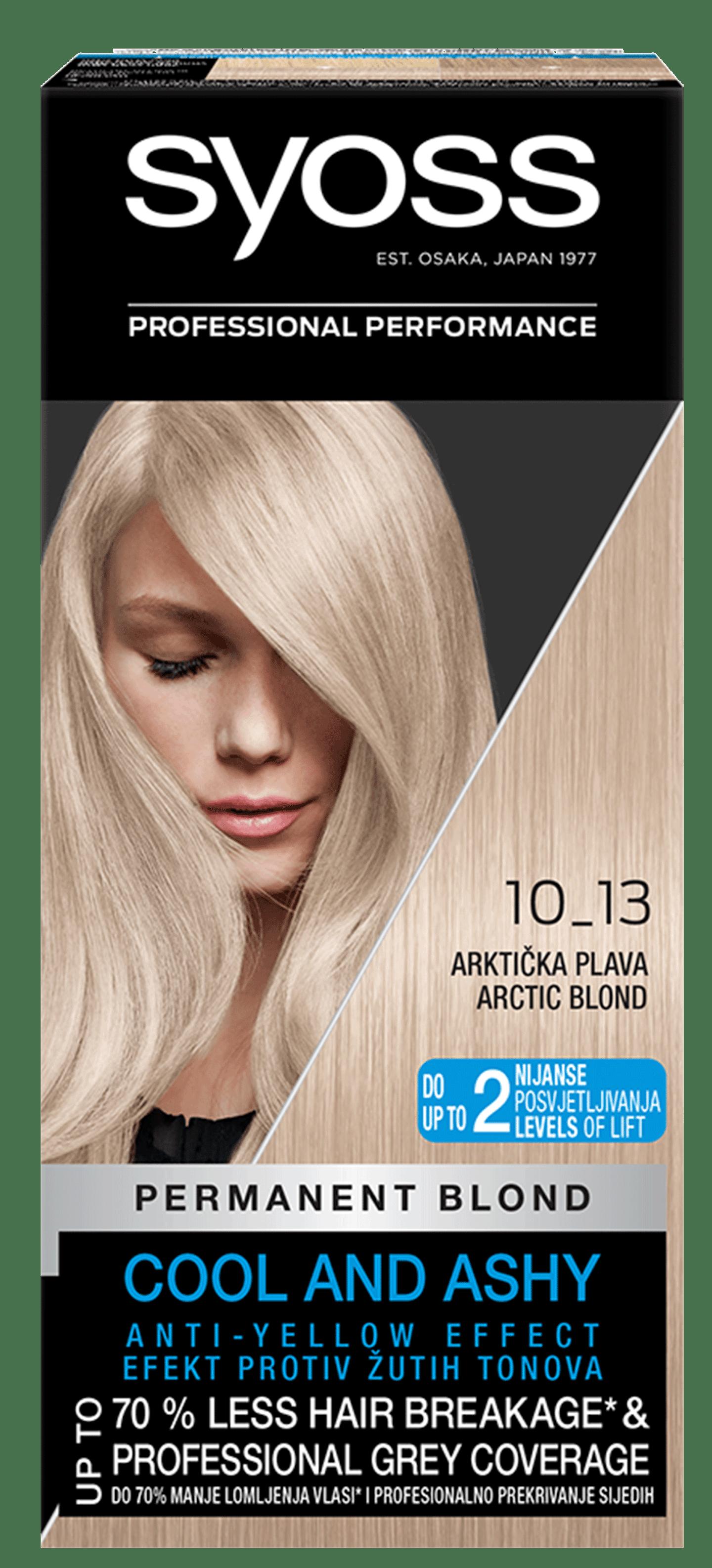 Trajna barva za lase Syoss Arktično blond 10-13