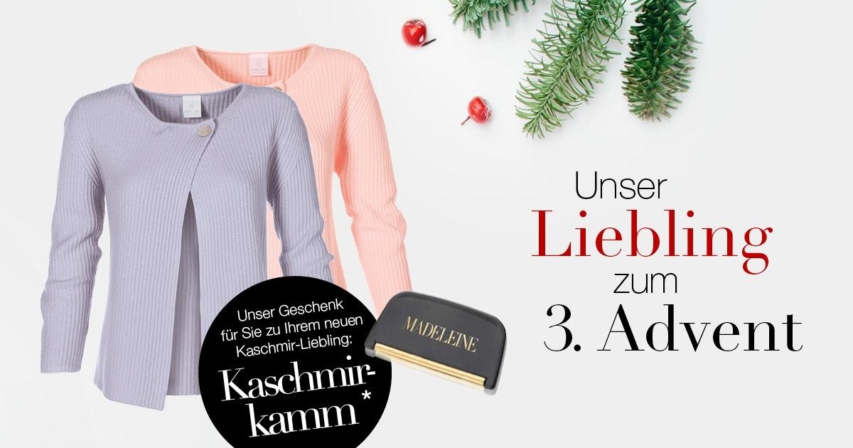 Damen Kaschmir-Strickjacke im Patentstrick bis 17.12.2017 schon ab 149,95€