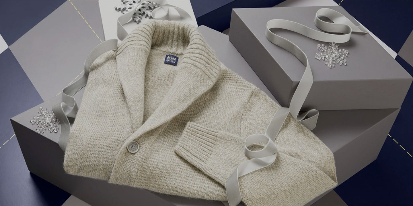 Christmas gift ideas for dad: the definitive guide Boggi Milano cardigan
