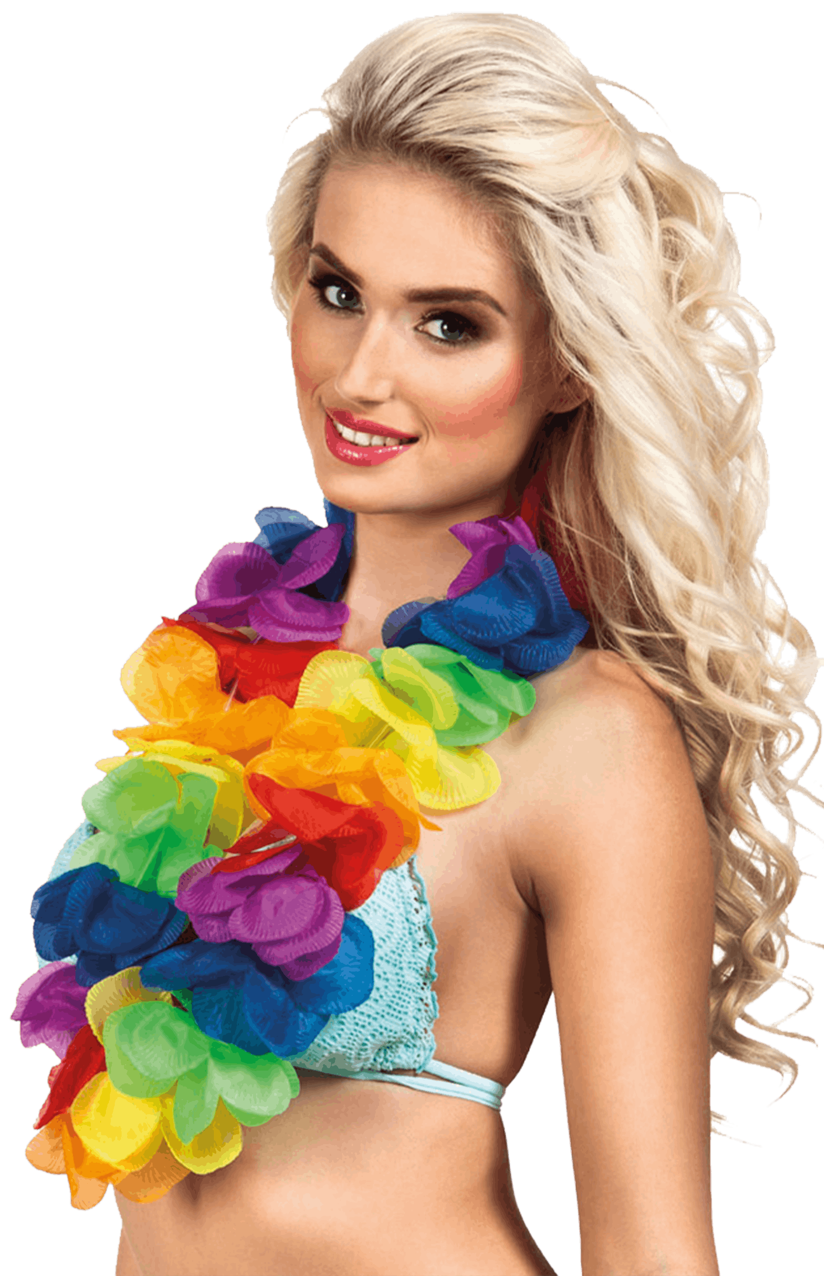 X Large Rainbow Hawaiian Lei