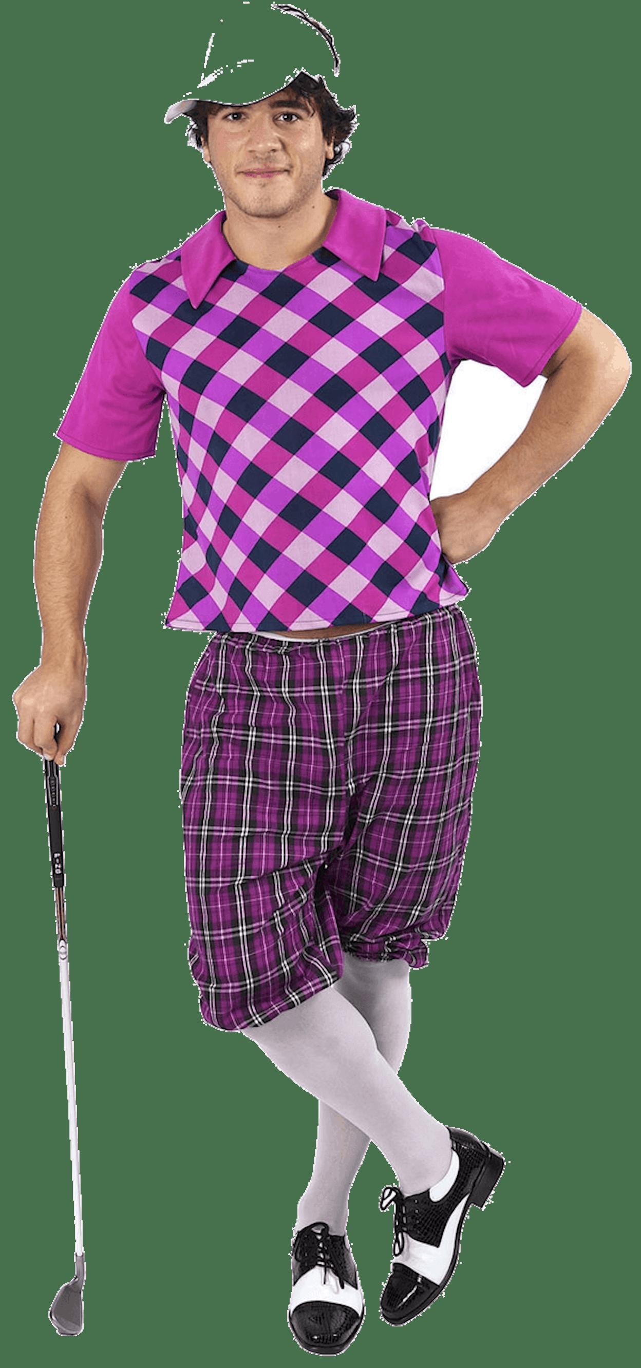 Mens Pub Golf Costume - Pink