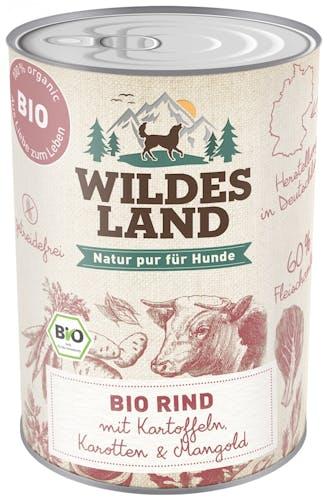 Wildes Land - Nassfutter - Bio Rind mit Kartoffeln (getreidefrei)