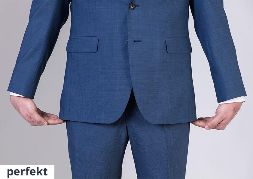 Mann im Anzug – perfekte Sakko-Länge