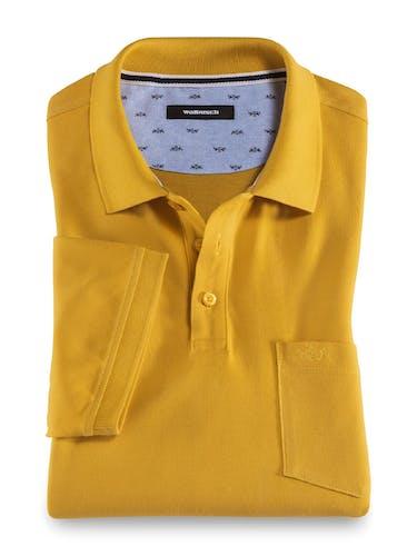 Gelbes Polo mit Brusttasche
