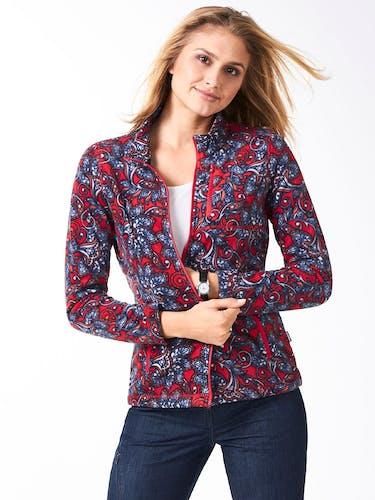 Fleece-Jacke in Rot für Damen