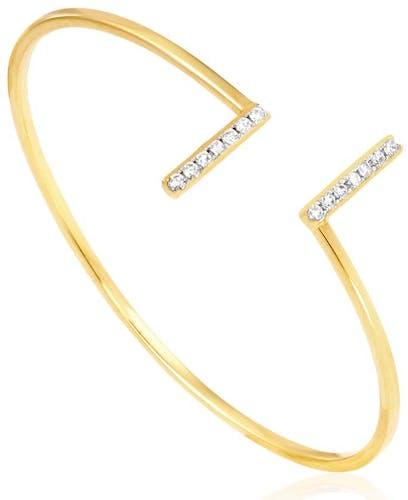 Ce bracelet Plaqué OR aux formes géométriques vous fera craquer ! Ultra tendance et moderne on ne peut que l'adopter, et son prix aussi