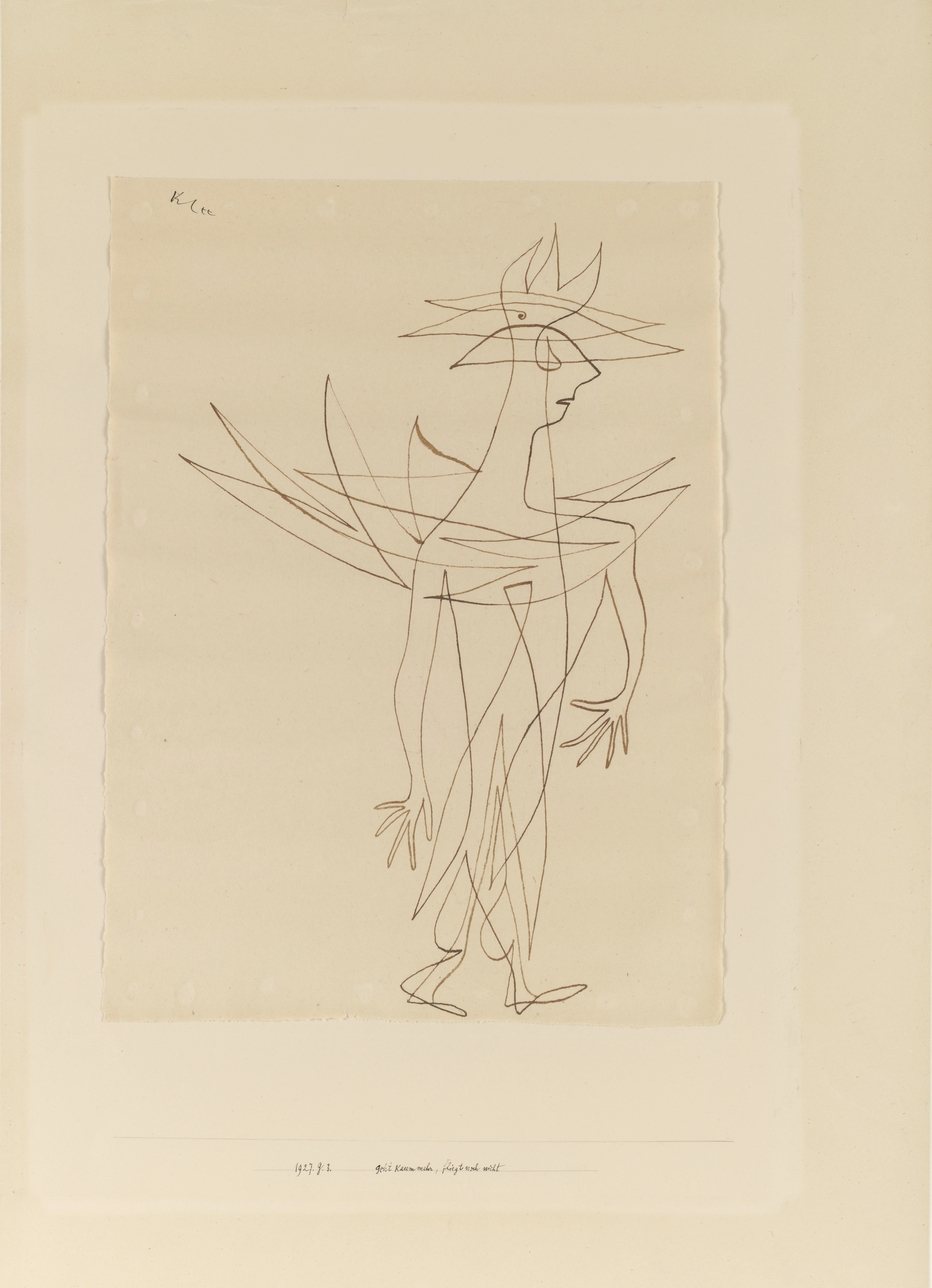 Paul Klee, Geht kaum mehr, fliegt noch nicht, 1927 © Imaging Department / President and Fellows of Harvard College