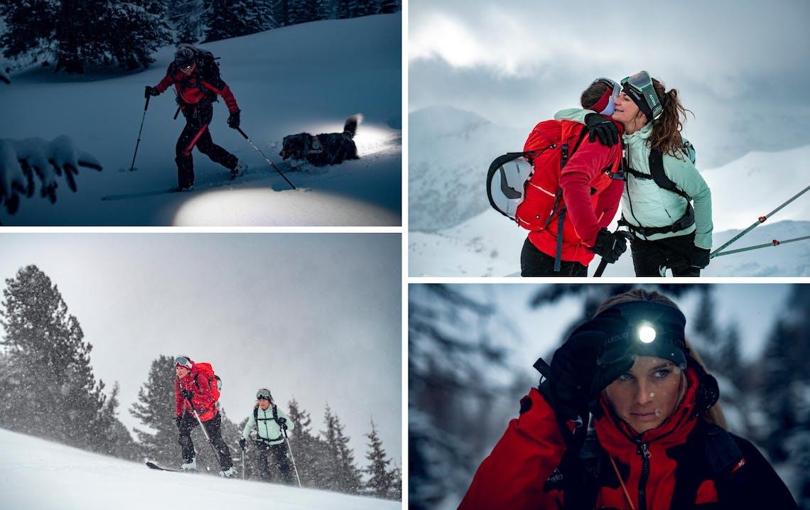 Atlete Atomic sugli sci