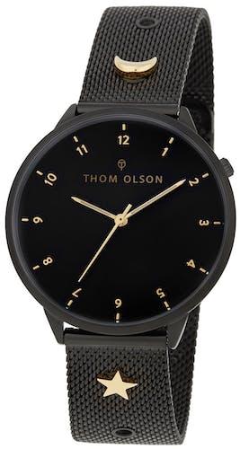 Cette montre THOM OLSON se compose d'un Boîtier Rond de 40 mm et d'un bracelet en Acier Noi