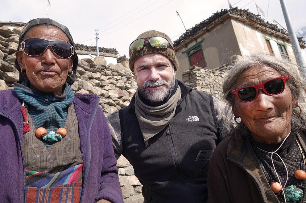 Jürgen Altmann (Mitte) in Ladakh