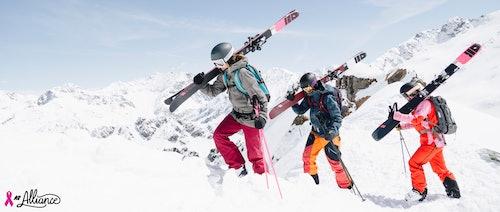 K2 Ausruestung für Skitouren Damenkollektion Pink Ribbon
