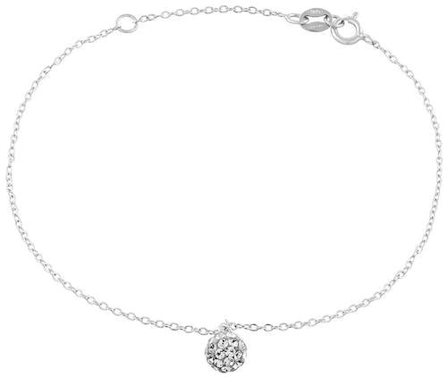 Ce Bracelet CLEOR est en Argent 925/1000 et en Cristal Blanc