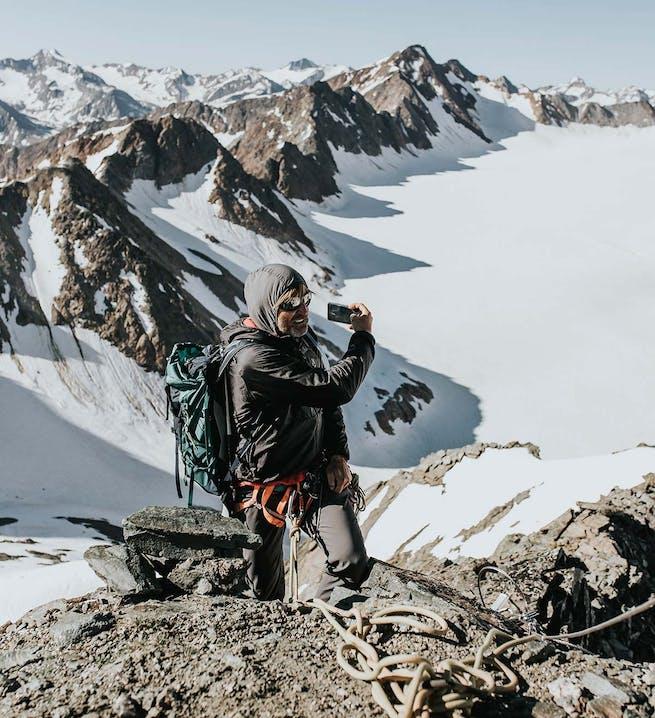 Gipfelbesteigung bei Schnee und Eis