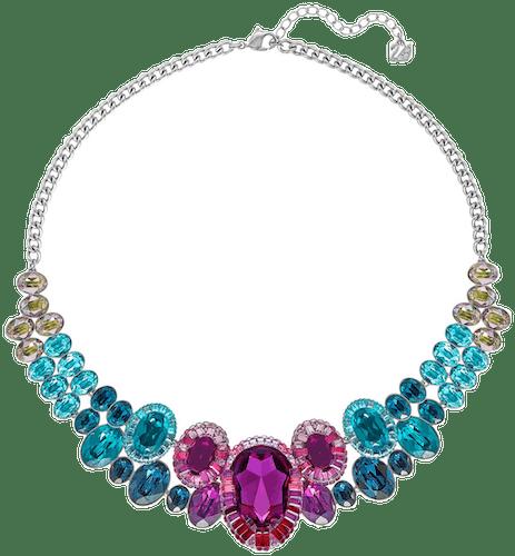 Collier SWAROVSKI en Métal et Cristal Multicouleur