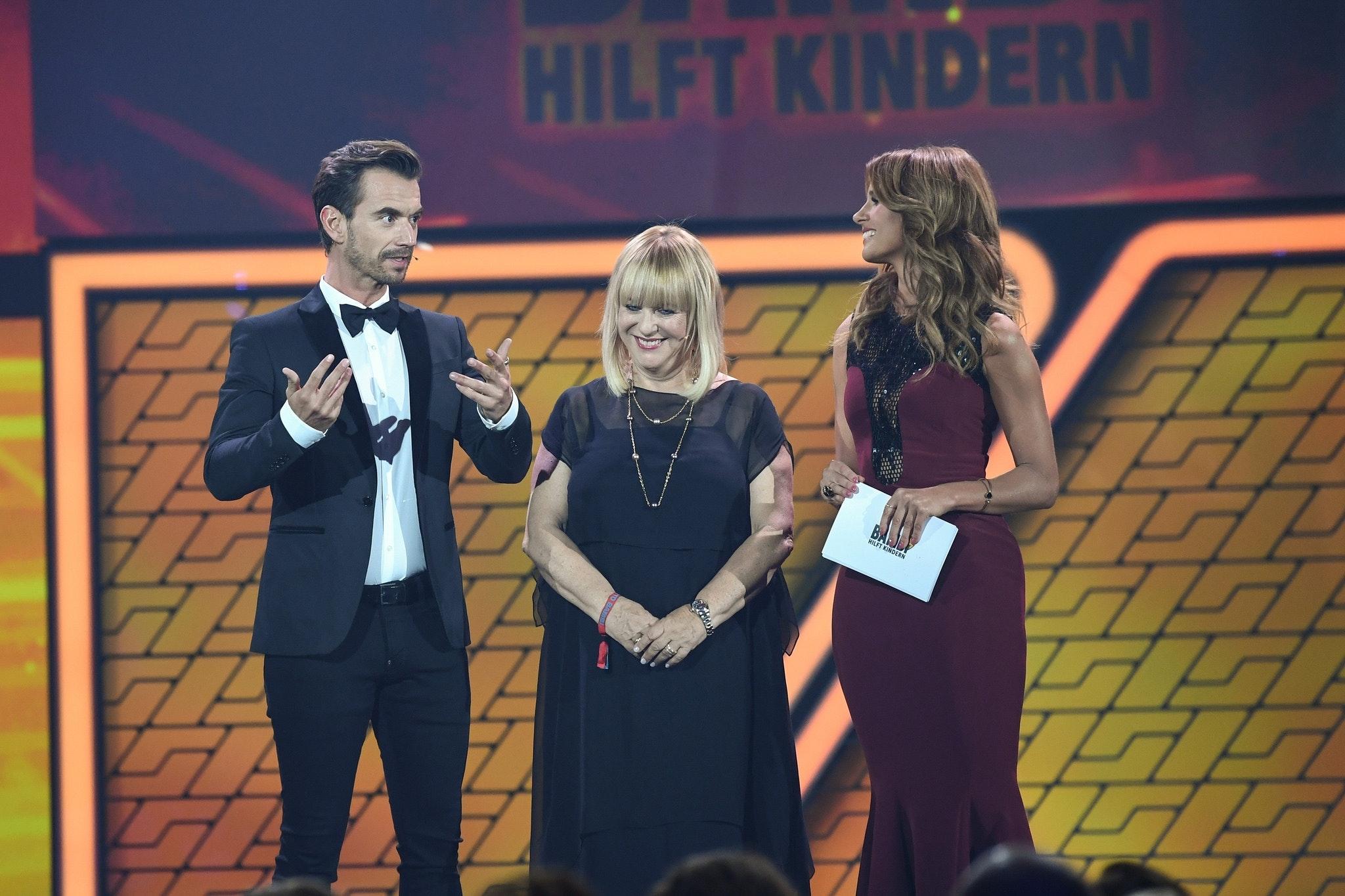 Florian Silbereisen, Patricia Riekel und Mareile Höppner auf der Bühne