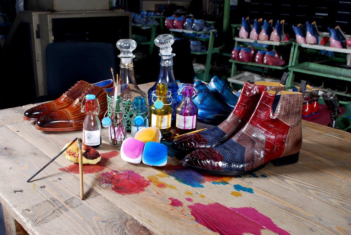 Originalité créativité chaussures maroquinerie Melvin & Hamilton