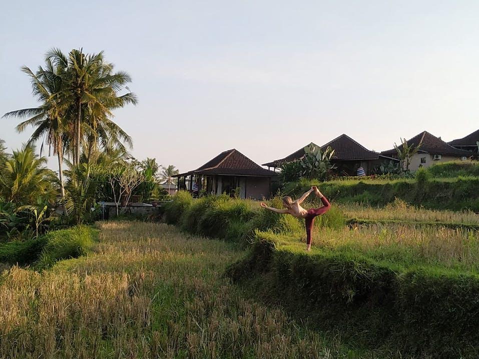 Steffi beim Yoga Teacher Training auf Bali