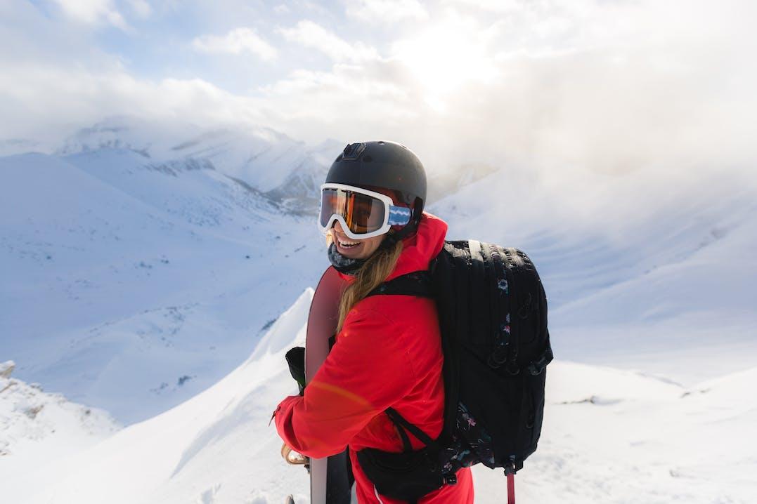 Bluebird Day beim Skifahren in Kanada