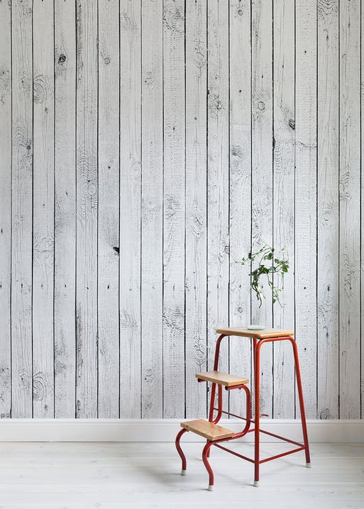 White Painted Wood