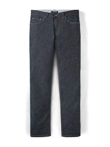 Dunkelblaue Jeans mit zwei Taschen.