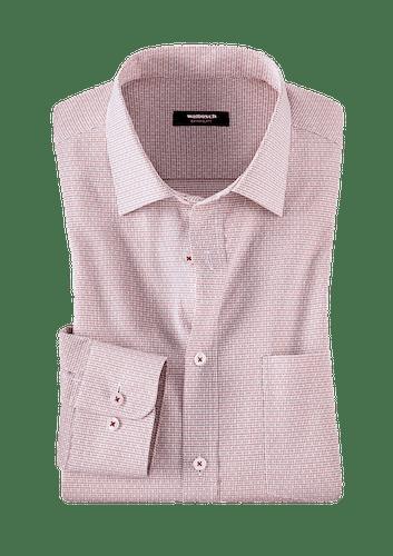 Gelegtes Hemd mit feinem Muster.