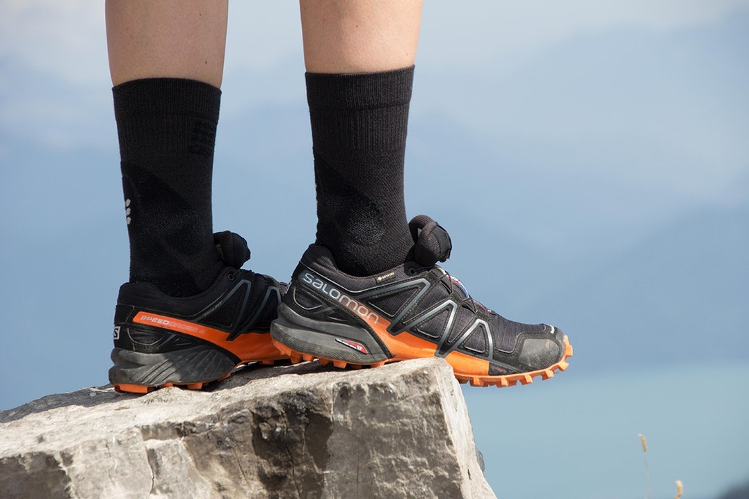 Der Speedcross in der SportScheck exklusiven Farbkombination schwarz-orange
