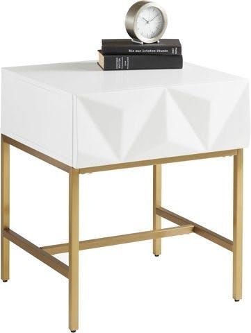 Leonique Beistelltisch »Minfi« mit einer Schublade und schöner Schubladenfront, Breite 50 cm