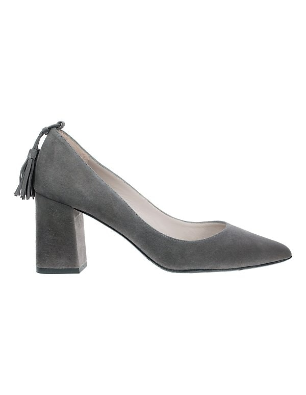 Pumps aus Velours-Leder