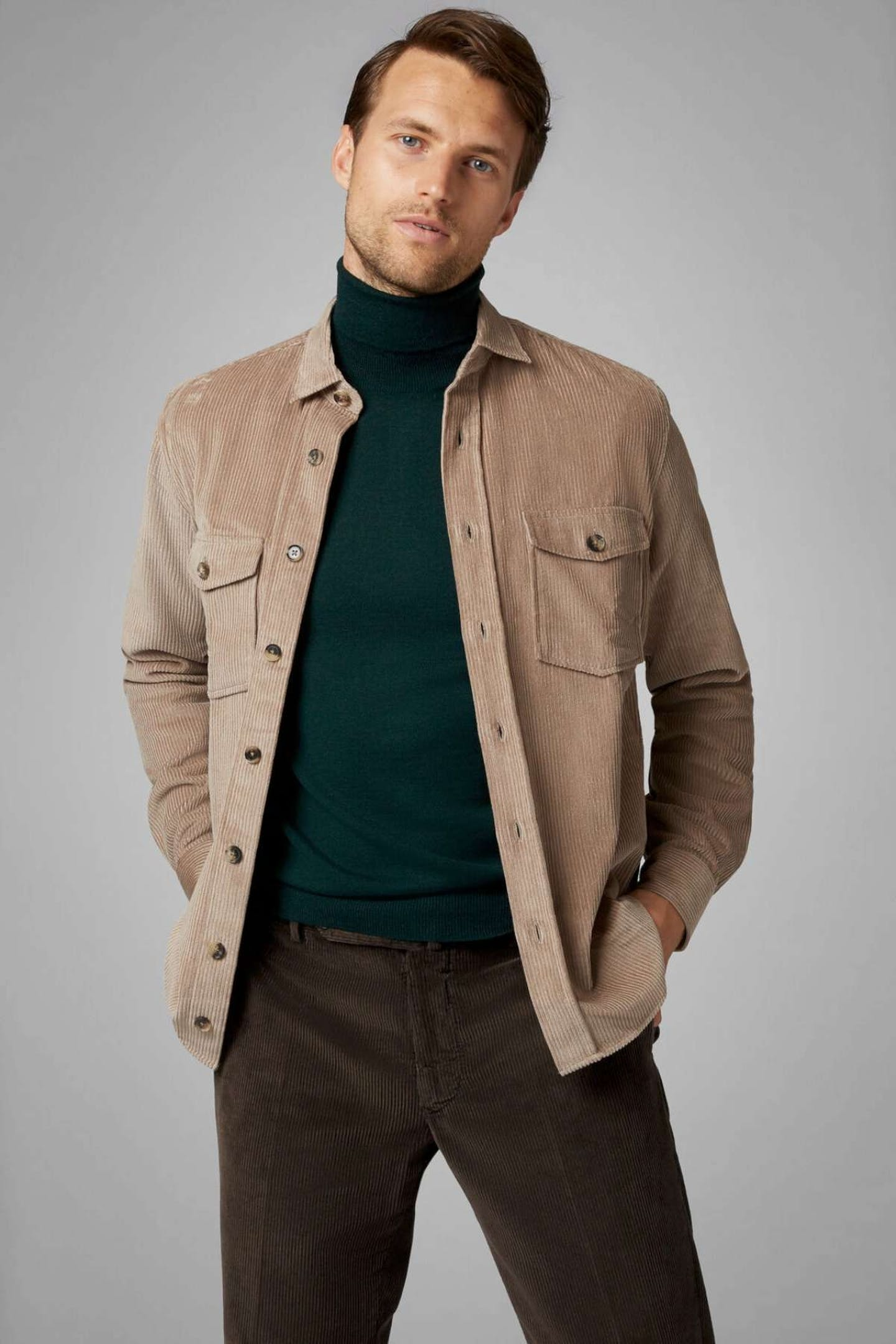 best Christmas presents for Dads corduroy overshirt by Boggi Milano