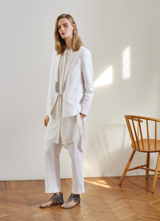 Fabiana Filippi, Spring / Summer Collection 2018, White, Blazer, Lodenfrey, Munich