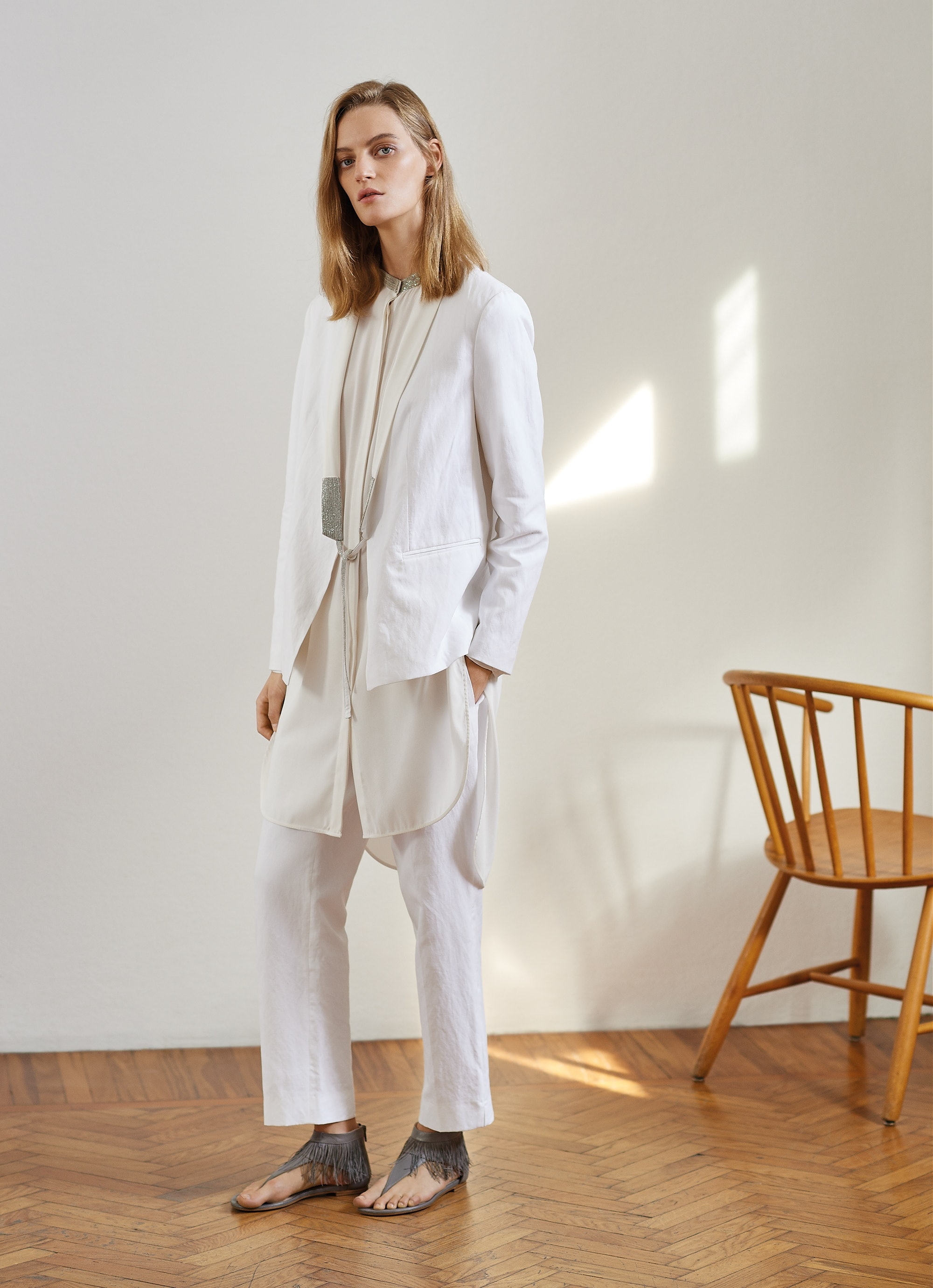 Fabiana Filippi, Spring / Summer Collection 2018, White, Blazer, Lodenfrey, Munich