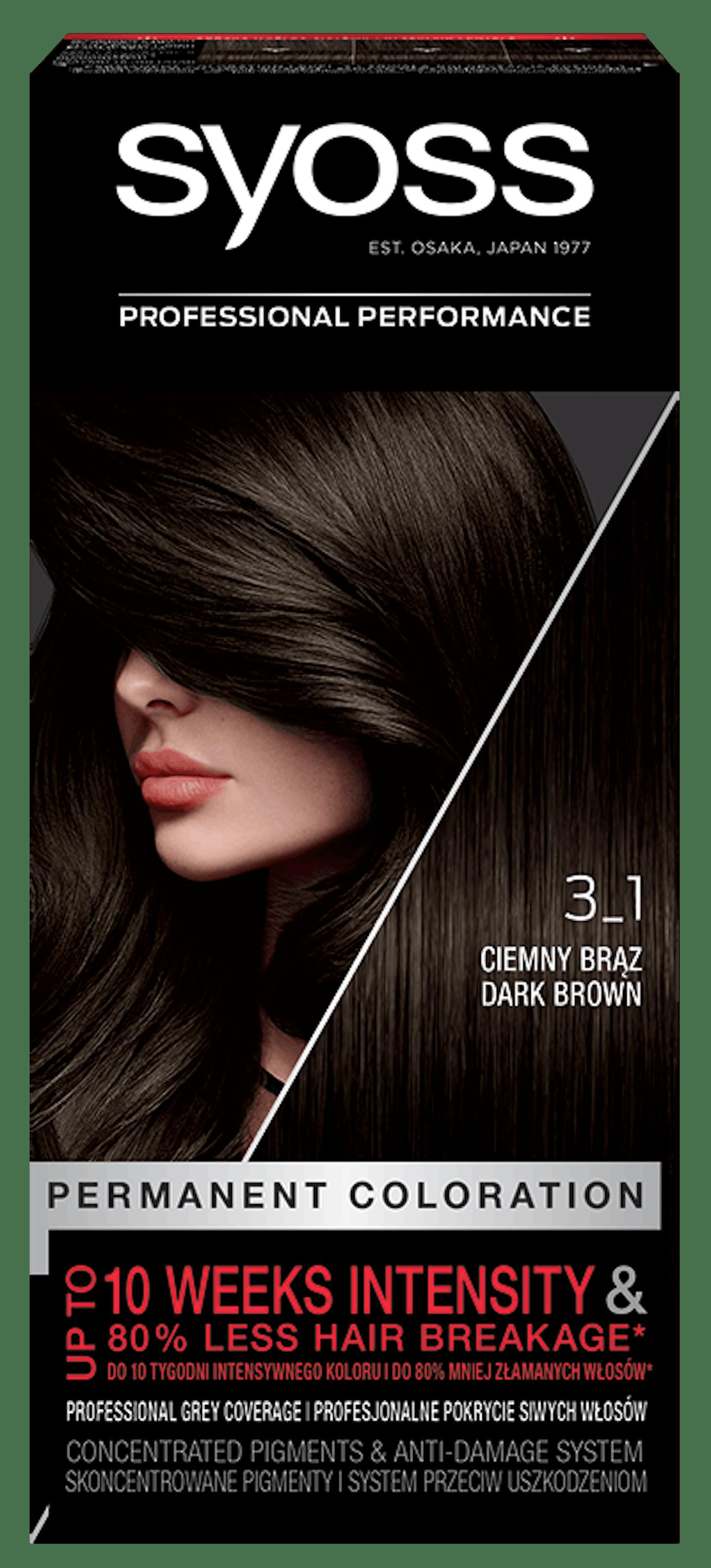 Trajna barva za lase Syoss Temno rjava 3-1