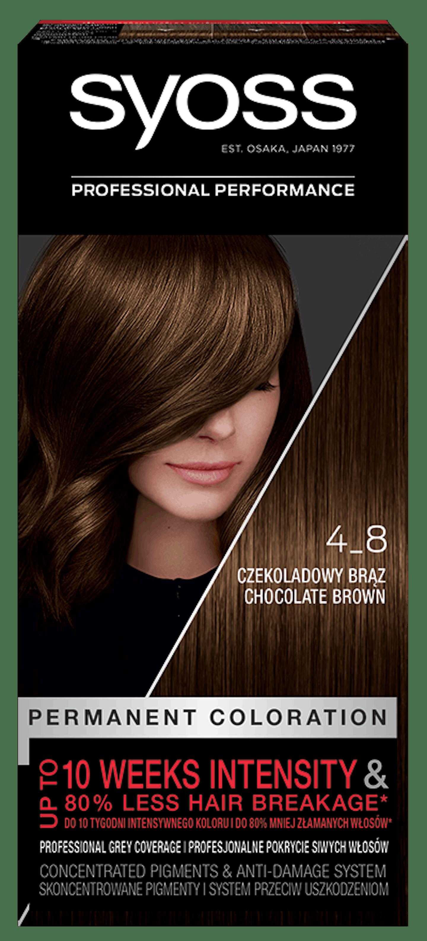 Trajna barva za lase Syoss Čokoladno rjava 4-8
