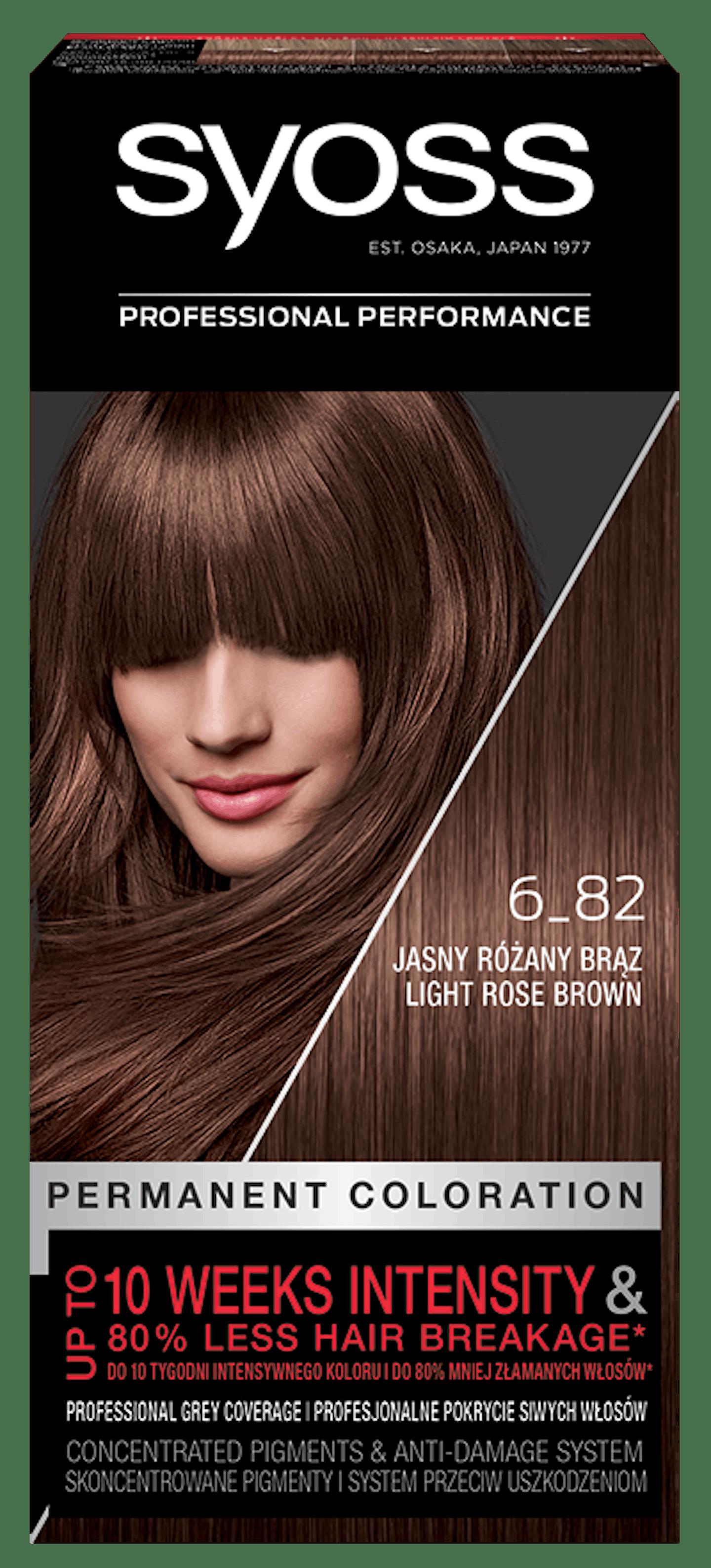 Vopsea de păr permanentă Syoss 6-82 Blond Rosé Deschis