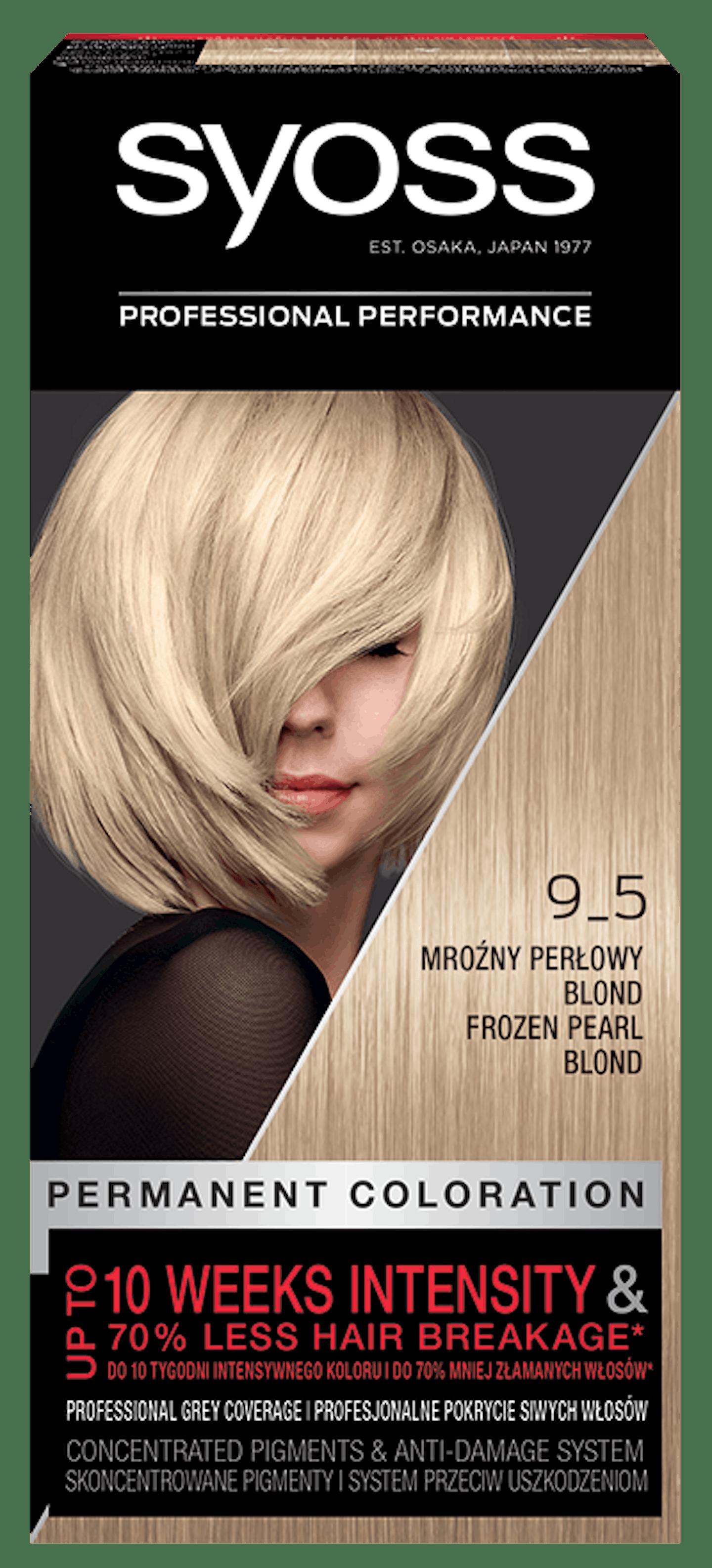 Vopsea de păr permanentă Syoss 9-5 Blond Perlat Rece