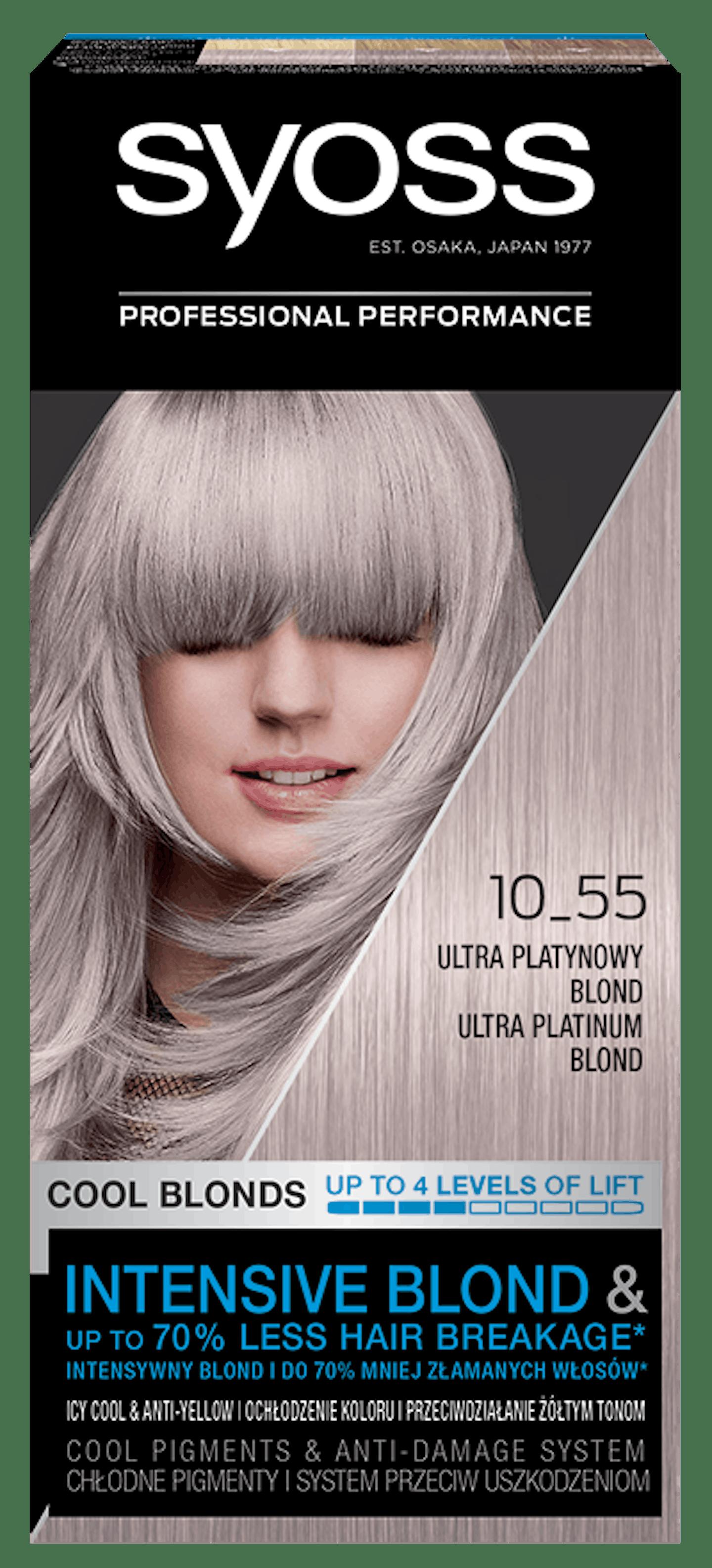 Vopsea de păr permanentă Syoss 10-55 Ultra Platinium Blond